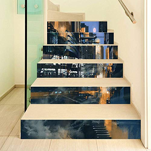 3D Stair Stickers design gives a fabulous feeling to your home decor. They can be easy DIY and used in different ways to decor home like as wall decals, stair stickers.Practical designed for quick and easy application,Just simply Peel and Stick,No to...