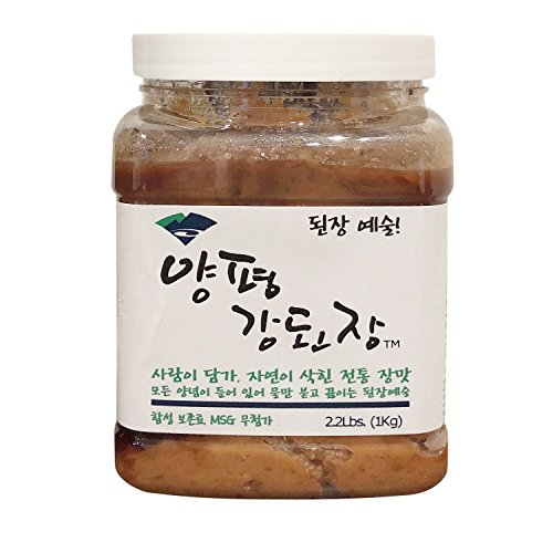 Yangpyeong Premium Unpasteurized Seasoned Soybean Paste 2.2lbs (Soybean Paste, 1 Pack)