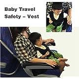 Hiltow Baby Travel Safety Vest,(Black)