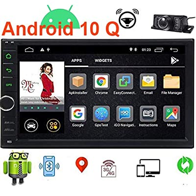 EINCAR Android 10.0 Car Stereo 7 Inch Double Din Car Radio with GPS Navigation System 2GB RAM in Dash Headunit 2 Din Car Video Audio Player Bluetooth WiFi SWC Mirror Link Wireless Rear View Camera: Automotive