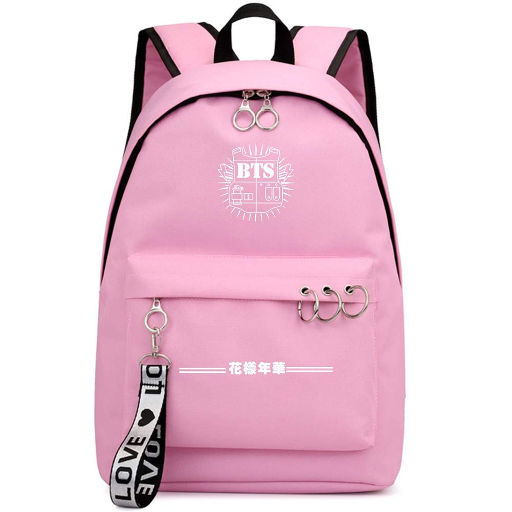 BTS4 Chour/&Euhk Kpop BTS Bangtan Boys Starry High Capacity Backpack Boys and Girls Students Rucksack Star Surrounding School Bag Hot Gifts for Fans