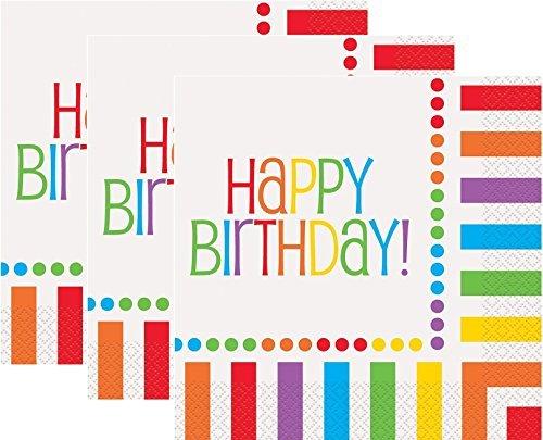 (Rainbow Birthday Luncheon Napkins, 16ct (3)