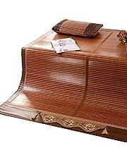 Fajny materac, pościel słomy mat Lato śpite maty łóżko mata składa się z węglików węglików siedzenie dwustronne użycie domowe wielofunkcyjne, 1,5m fajny materac
