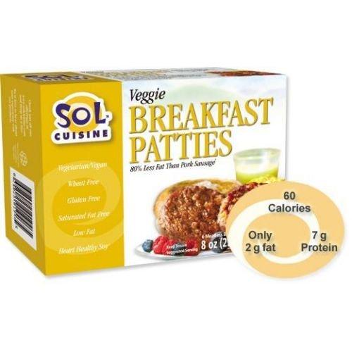 Sol Cuisine Veggie Breakfast Patty, 8 Ounce - 12 per case.