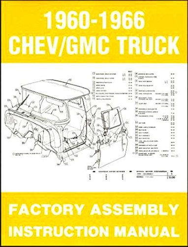 COMPLETE, FULLY ILLUSTRATED 1965 & 1966 CHEVY & GMC TRUCKS & PICKUPS FACTORY ASSEMBLY INSTRUCTION MANUAL - INCLUDES C10, C20, C30 K10. K20, K30, Panel, Pickup, Suburban - CHEVROLET