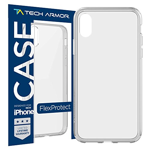 Tech Armor Apple iPhone X/Xs Case FlexProtect - Clear, Flexible Protection, Shock Absorption