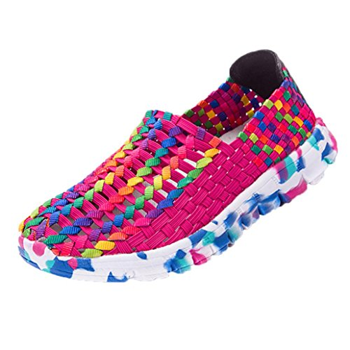 Women Shoes, Limsea Woven Flats Breathable Shallow Mouth Lazy Slip Resistant Comfort Shoes