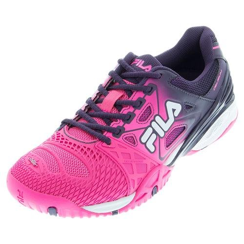 Fila Frauen Cage Delirium Athletic Turnschuhe Mesh Knockout Pink, lila Wimpel, weiß