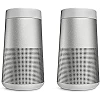 Bose SoundLink Revolve Bluetooth Speaker, Lux Gray - Pair for a True Stereo Sound - Bundle
