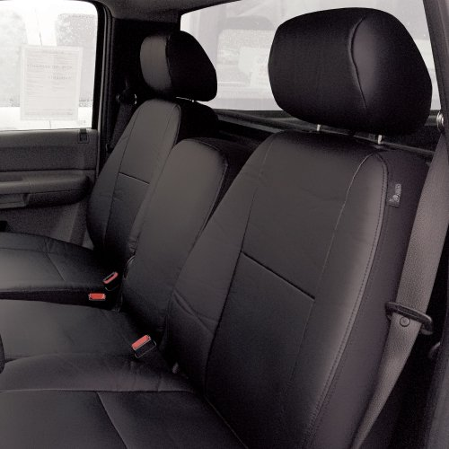 FH GROUP FH-CM217 2007 - 2013 Chevrolet Silverado Leather Black Custom Seat Covers Front Set Airbag Safe by FH Group