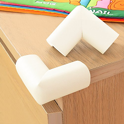 BABY MATE 12 PCS Home Safety NBR Foam Furniture Corner Cushion Protector (Beige, 2.7