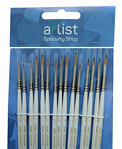 15-Piece Detail Paint Brush Set: Perfect When You Need Model Paint Brushes or For Painting Miniatures and Yes - Great For...