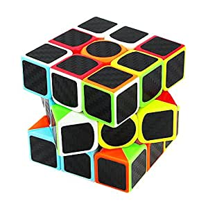 Novelty Amazing Magic Cube Littleice 3x3x3 Speed Cube Carbon Fiber Sticker for Smooth Magic Cube Puzzles