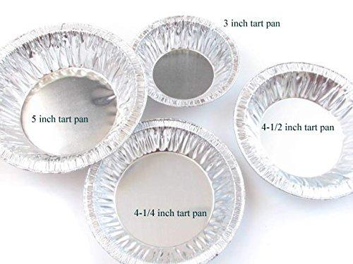 Disposable Aluminum 4 1/4'' Deep Tart Pan #425 (1,000) by D&W Fine Pack (Image #1)