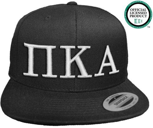 PI KAPPA ALPHA Flat Brim Snapback Hat White Letters / Pike | PKA | Fraternity Cap