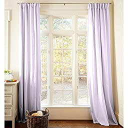 Carousel Designs Solid Lilac Drape Panel 84-Inch Length Standard Lining 42-Inch Width