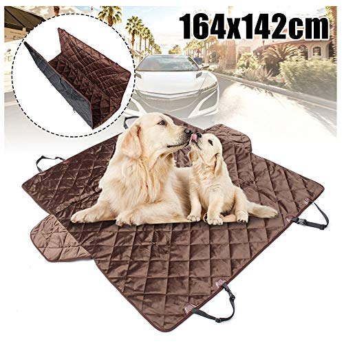 YUSHHO56T Dog Car Seat Cover Car Seats Accessoires Seat Cover 164x142cm Pet Dog Car Back Seat Cover Nonslip Hammock Mat for Car Truck SUV - Black Coffee