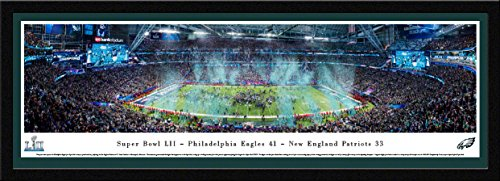 Super Bowl 2018 Champions, Philadelphia Eagles - 42x15.5-inch Single Mat, Select Framed Picture by Blakeway Panoramas