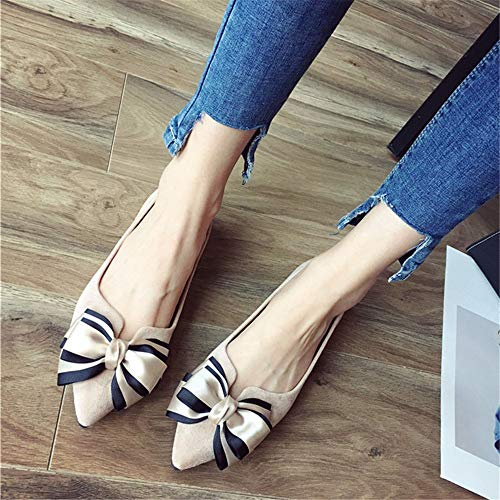 41 comfortable Spring sleek EU women shoes work shoes soft flat single pregnant autumn bottom butterfly shoes minimalist and FLYRCX shoes Aw4Bq4