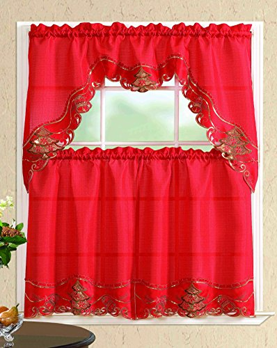 Christmas Kitchen Curtains 2018 Red Christmas Kitchen