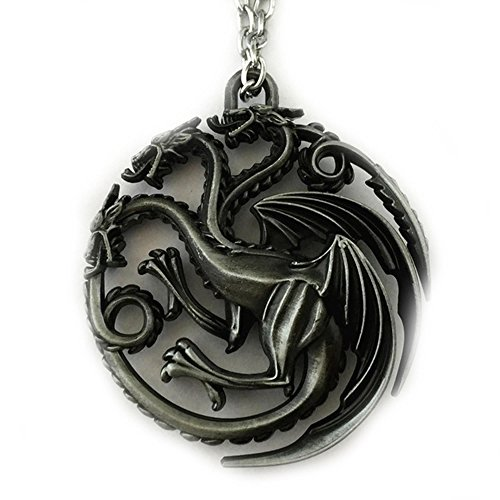 Game of Thrones Brushed Metal Targaryen Logo 18