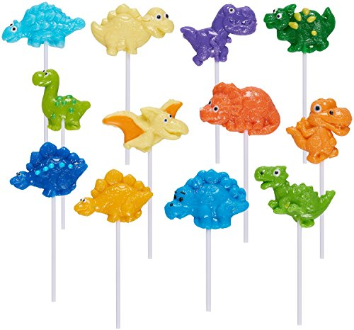 Prextex Dinosaur Lollipop Party Favors Dinosaur Suckers Pack of 12
