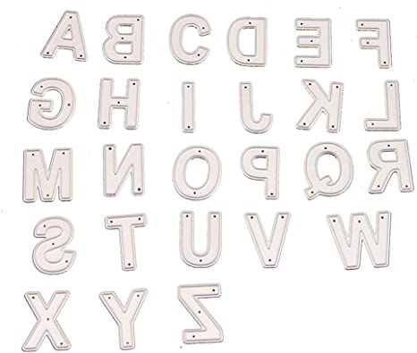 04 1 Pack 26 Capital Alphabet Letters Metal Cutting Dies for Card Making and Scrapbooking Birthday Thanksgiving Christmas Die Cuts