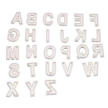 Amazon.com: 1 paquete de 26 troqueles de corte de letras del ...