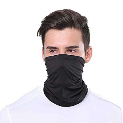 Tekijun Seamless Bandanas Multifunctional Scarf, Unisex Cycling Face Mask Outdoor Sports Protection Head Neck Scarf Bandana Black: Toys & Games