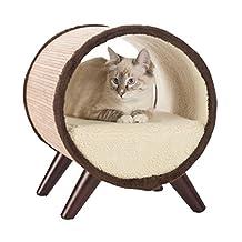 Paws & Purrs Tubular Small Pet Bed, Bamboo/Vanilla