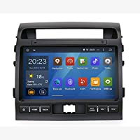 SYGAV Android 5.1.1 Lollipop Car Stereo Video Player Sat GPS Navigation for Toyota Land Cruiser LC200 2008-2013 Quad Core 10.2 Inch 1024x600 In-dashwith Wifi Bluetooth Radio