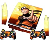 Ps3 Skins Naruto Uzumaki Decals Vinyl Cover for Ps 3 Slim Console