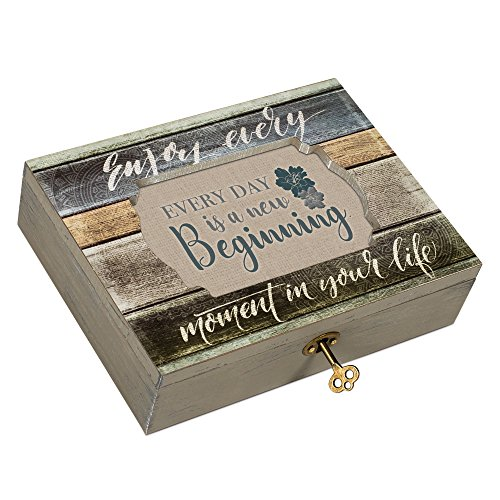 (Cottage Garden Every Day New Beginning Moments Decoupage Music Box Plays What a Wonderful World)