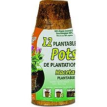 Planters Pride RZR02252 2.25 Round Fiber Grow Coconut Coir Pots, 12-Pack