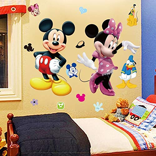 Mickey Minnie Mouse Kids Room Decor Disney Wall Sticker Cartoon Mural Decal Home 1pc - Mini Wall Stickers