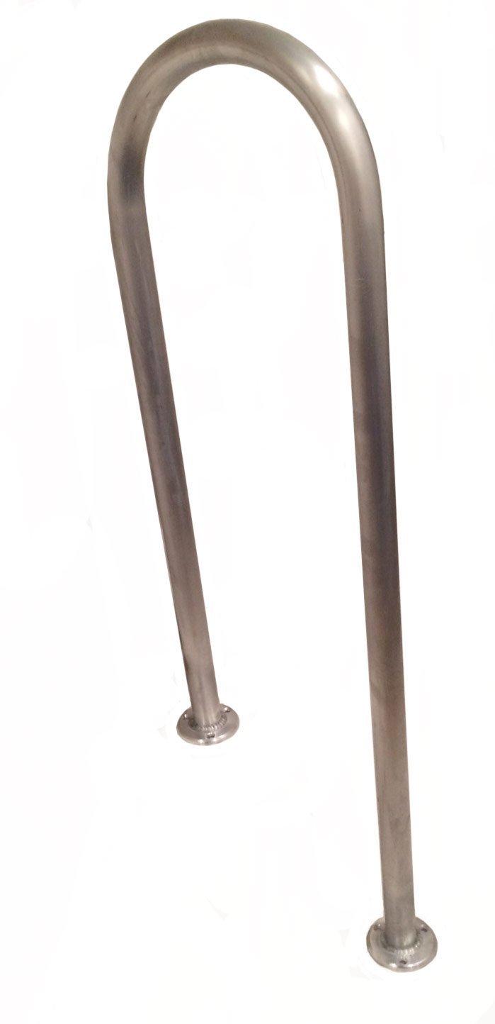 48 (H) x 13 (W) Aluminum Handrail - For 8 Steps/Stairs - Safety Grab Bar - Dock, Boat, Pool, Hot Tub, etc. Marine Fiberglass Direct
