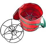 Elf Stor Premium Christmas Light Storage Bag & Steel Reels Holds 2x100ft Strands
