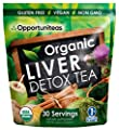 Organic Liver Detox Tea - Matcha Green Tea, Milk Thistle, Coconut Water, Spirulina, Ginger, & Cinnamon - Natural Cleanse to Boost Energy & Feel Better - Liver Care Support Supplement. Vegan & Non GMO by Opportuniteas