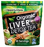 Organic Liver Detox Tea - Matcha Green Tea, Milk Thistle, Coconut Water, Spirulina, Ginger, Cinnamon - Natural Cleanse to Boost Energy & Feel Better - Liver Care Support Supplement. Vegan & Non GMO