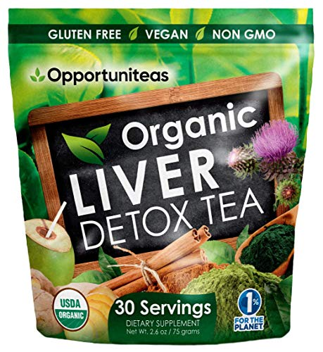 Organic Liver Detox Tea  Matcha Green Tea Milk Thistle Coconut Water Spirulina Ginger Cinnamon  Natural Cleanse to Boost Energy amp Feel Better  Liver Care Support Supplement Vegan amp Non GMO