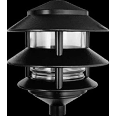 RAB Lighting LL322B Incandescent 3 Tier Lawn Light, A-19 Type, 75W Power, 1220 Lumens, 120VAC, Black: Landscape Path Lights: Industrial & Scientific