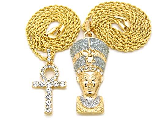 Egyptian Queen Nefertiti, Ankh Cross Pendant 20
