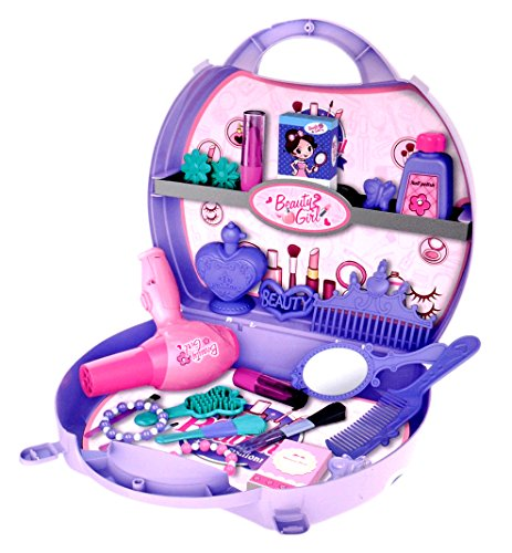 Toyshine Carry Along Beauty Set Toy with Briefcase 29 Accessories (Multicolour)