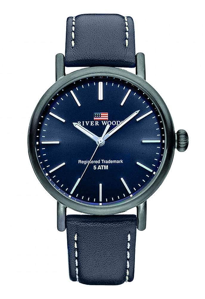 River Woods Reloj Analógico para Hombre de Cuarzo con Correa en Cuero RW420032
