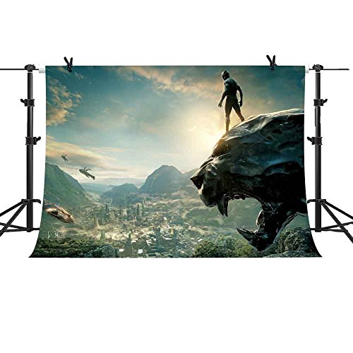 MME 10x7ft Superhero Panther Fantasy World Background for Kids Party Indoor Wallpaper Vinyl Photograph Video Studio Props (Panthers Photograph)