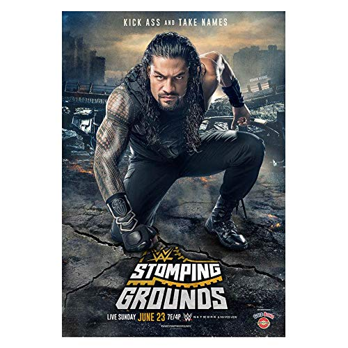 WWE Authentic Wear Stomping Grounds 2019 Poster