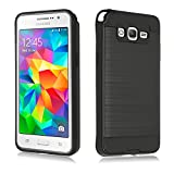 Grand prime Case, ZeopoCase [Shock-Absorption] 2 in 1 Style Hybrid Shockproof Hard Case Cover for Samsung Galaxy Grand Prime G530 (Black)