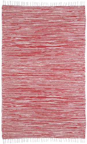 complex chenille flat weave rug 3feet by 5feet red