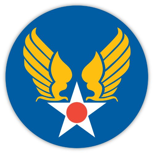 "USA US United States of America Air Force USAF ""Hap"" Arnold Symbol sticker decal 4"" x 4"""