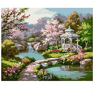 LIWEIXKY Peinture À l\'huile sans Cadre Jardin Japonais Set ...